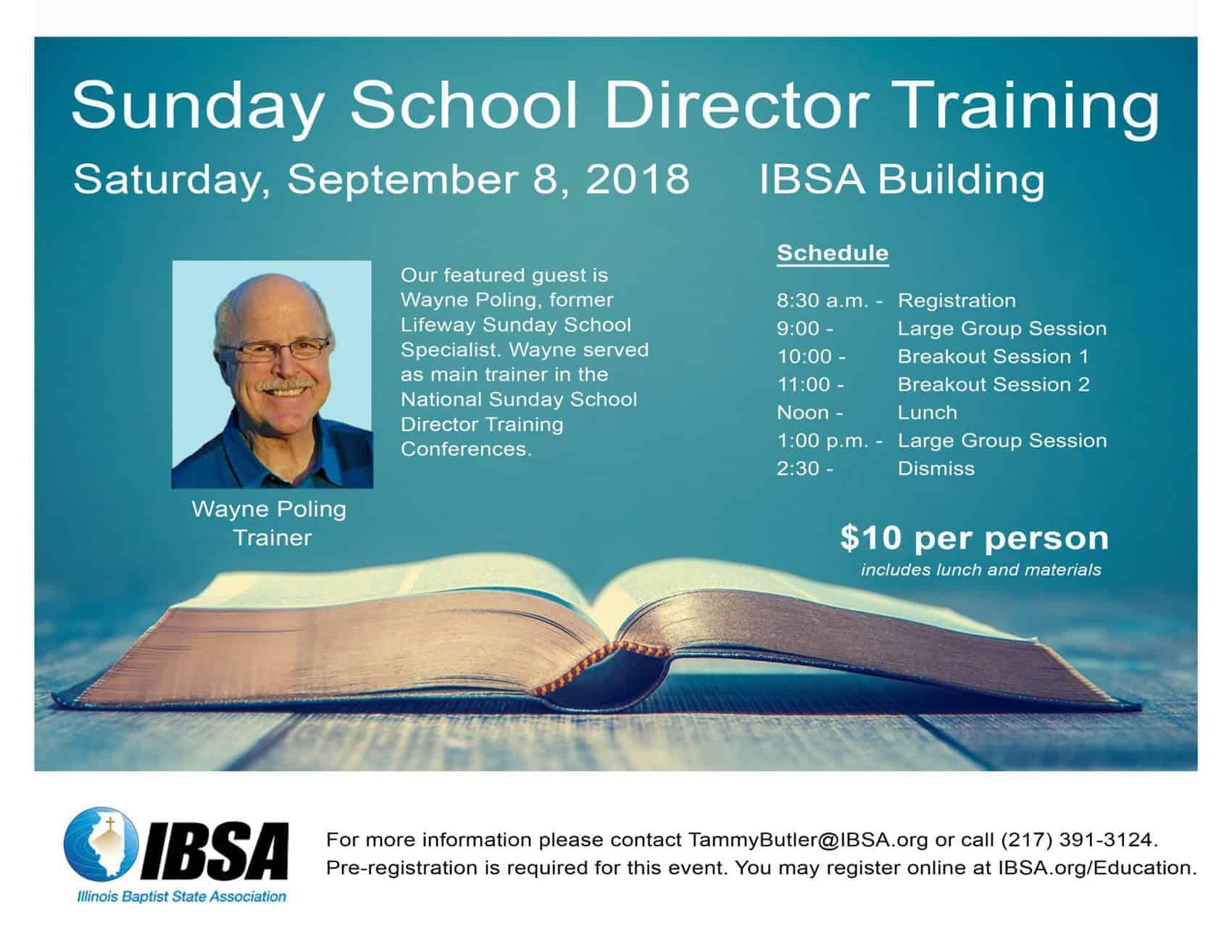 Sunday School Director Training