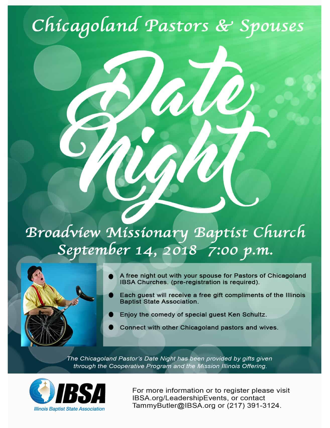 Chicagoland Pastors and Spouses Date Night