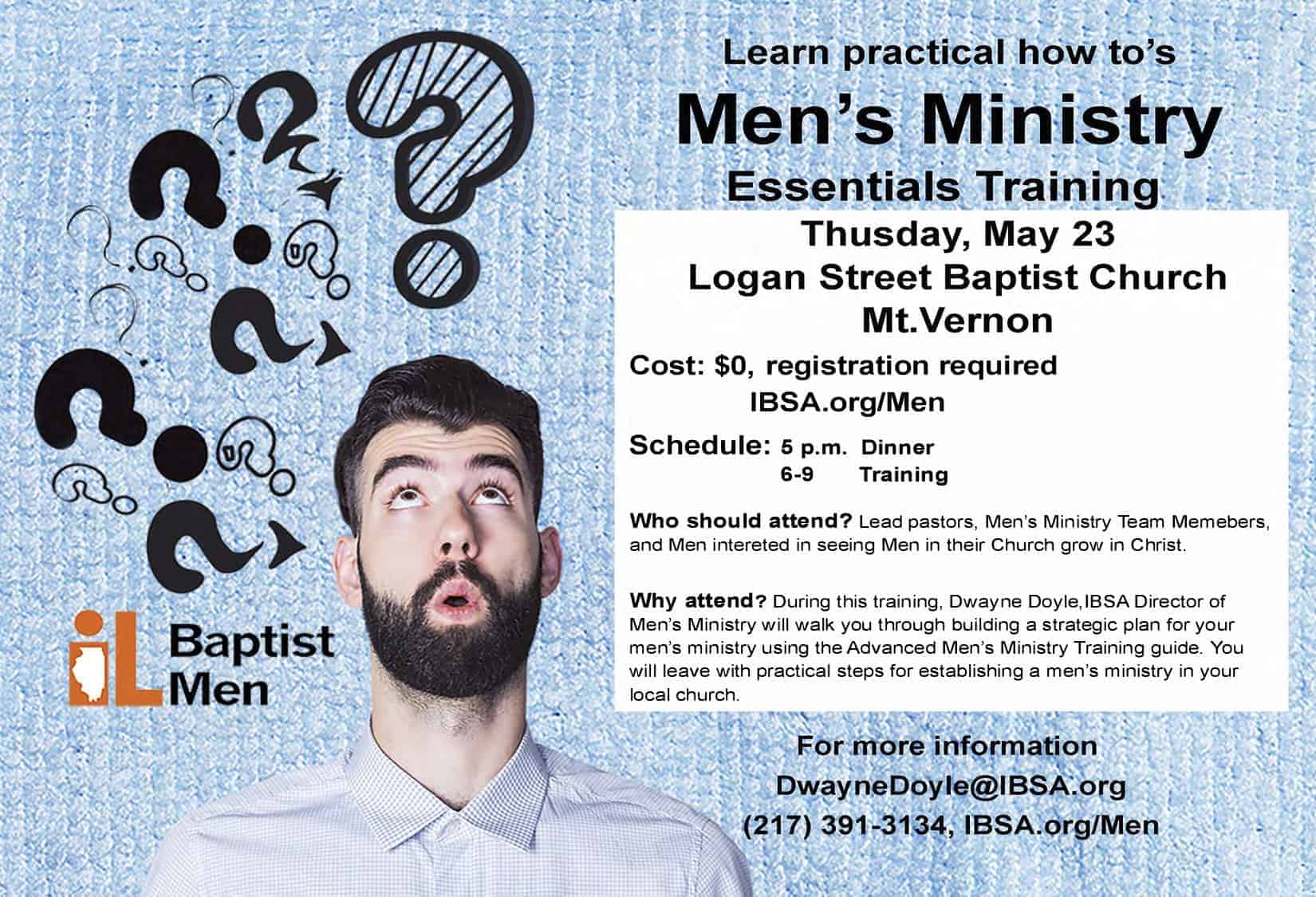 Men's Ministry Essentials Training Night 2019